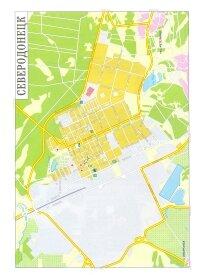 Карта города северодонецк луганской