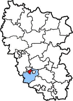 Карта  расположения города Стаханова. Расположен на территории Перевальского  района